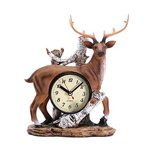 Lucky Star Retro Adornos De Reloj De Cervatillo Creativo Hacer El Viejo Reloj De La Decoración del Hogar Reloj Despertador...