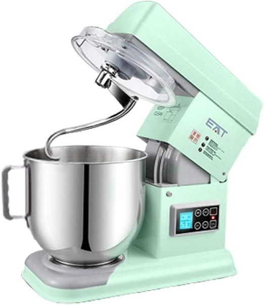 550W robot de cocina batidora amasadora Incluye gancho para masa, bata y un batidor, 11 ajustes de velocidad y pantalla LED, con cuenco de 5L para comida de trigo, ensalada, pastel,Verde: Amazon.es:
