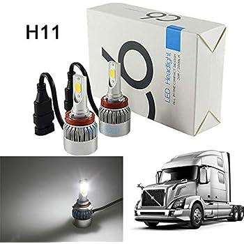 Amazon.com: Pair H8 H11 LED Headlight Bulbs Conversion Kit For Volvo on volvo vn670, volvo vnl42t, volvo vnl, volvo vnl64t610, volvo vnl42t300, volvo wg42t, volvo autocar acl64, volvo wg64t, volvo trucks, volvo vnl780,