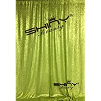 ShinyBeauty Lime Green Sequin Curtains Sequin Backdrop photography 20FTx10FT Sparkly Backdrop C0319