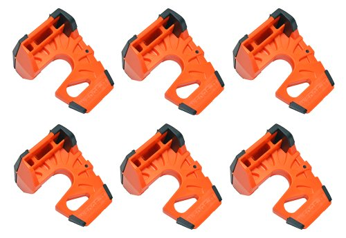 Wedge-It - The Ultimate Door Stop - Orange (6 Pack) by Wedge-It