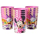 American Greetings Minnie Mouse Plastic Party Cups (12 Count), 16 oz