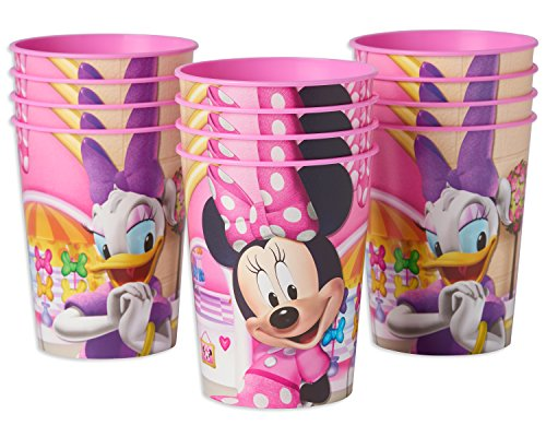 American Greetings Minnie Mouse Party Supplies 16 oz. Reusable Plastic Party Cup, 12-Count -