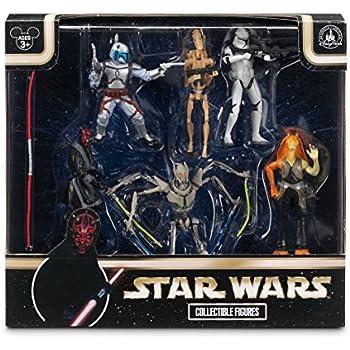 Disney Star Wars Exlusive Prequel Set Villians Figurine Playset Darth Maul General Grevious