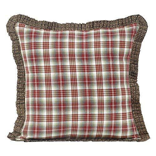 VHC Brands Rustic & Lodge Bedding Durango Cotton Plaid Square Cover Insert Pillow 16
