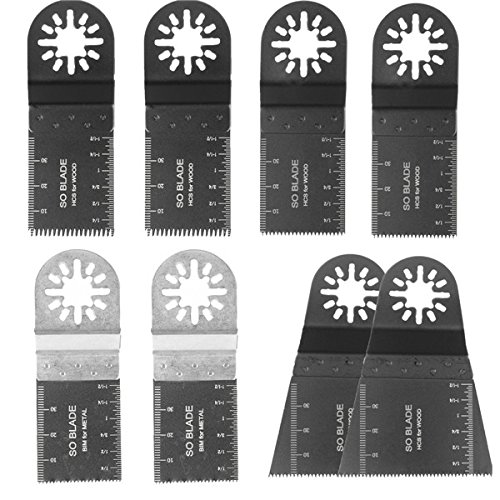BephaMart 8pcs Mix Saw Blades Set For Fein Multimaster Bosch Makita Oscillating Multitool by BephaMart