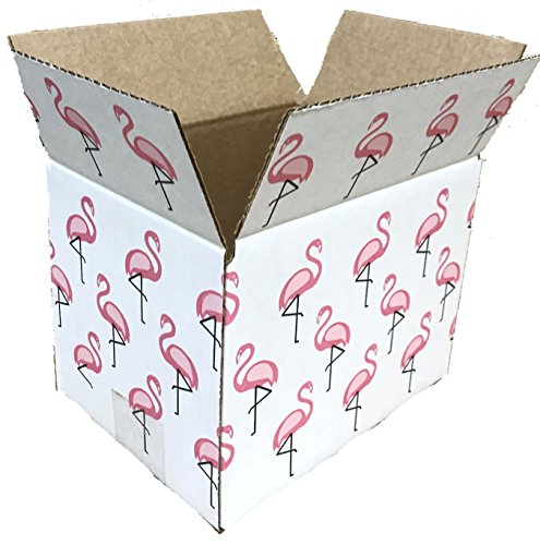 25 8x6x6 Flamingo Designer Boxes corrugated Cardboard Box Shipping Cartons Mailers Custom Printed Containers 8