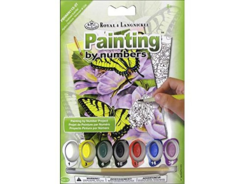 Swallowtail Butterfly Pictures - ROYAL BRUSH PBNMIN-113 Swallowtail Butterflies Mini Paint by Number Kit, 5