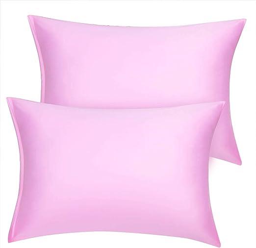 Amazon Com Uxcell Standard Satin Pillowcase With Zipper Super