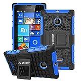 Lumia 435 Case, Pasonomi® Heavy Duty Hybrid Armor Case Cover with Soft Inner Skin and Kickstand For Microsoft Nokia Lumia 435 (Armor Series Blue)