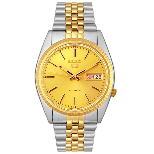 Seiko-Mens-SNXJ92-Two-tone-Automatic-Day-Date-Watch