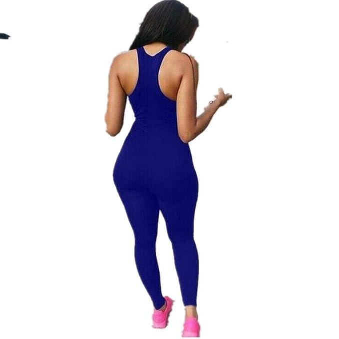 Globaltrade001 Mujer Chándal Traje Deportivo Mono Yoga Set Gym Fitness Set Ropa Deportiva Conjunto Una Pieza Vestimenta para Correr: Amazon.es: Ropa y ...