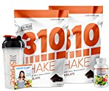 Chocolate Meal Replacement | 310 Shake Protein Powder is Gluten and Dairy free, Soy Protein and Sugar Free | Includes 310 Thin, Shaker and Free Recipe eBook | 2 Pack, Each Bag Contains 28 Servings