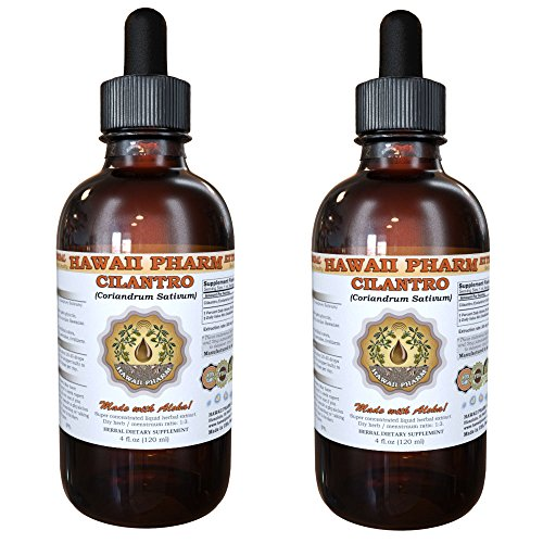 Cilantro Liquid Extract, Organic Cilantro (Coriandrum Sativum) Tincture Supplement 2x4 oz by HawaiiPharm (Image #4)