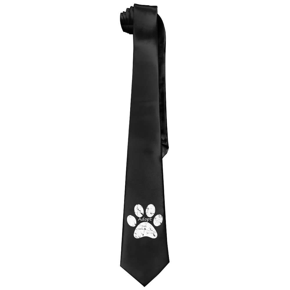The Dog Paw Prints Men Funny Neck Tie Neckties