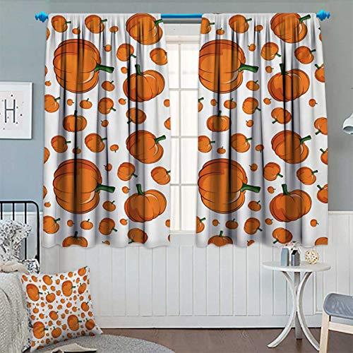 Anhounine Harvest,Blackout Curtain,Halloween Inspired Pattern Vivid Cartoon Style
