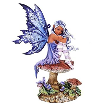 Pacific Giftware Amy Brown Licensed Violet Fairy Statue Polyresin Figurine