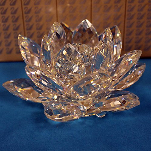 (Swarovski Crystal Figurine, Waterlily Candleholder -119747)
