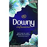 Downy Infusions Fabric Softener Sheets, Botanical Mist Scent, 105 Count