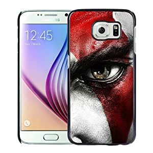 Popular Samsung Galaxy S6 Cover Case ,kratos god of war face eyes scar Black Samsung Galaxy S6 Case Hot Sale And Unique Designed Phone Case