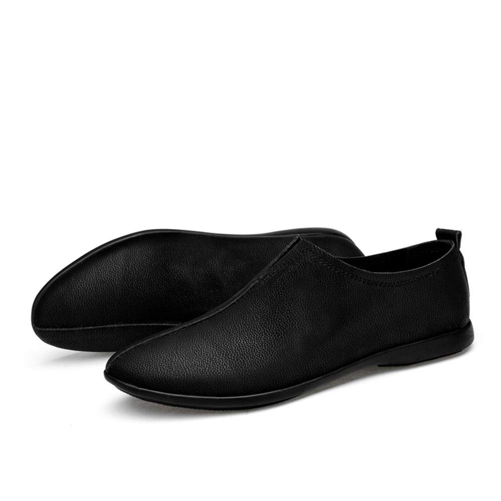 Best-choise Oxford Chaussures pour Hommes en Cuir V/éritable Robe De Mariage Mocassins Respirant L/éger Mince Anti-Slip Plat Slip-on Bout Rond Accrocheur Color : Light Brown, Taille : 37 EU
