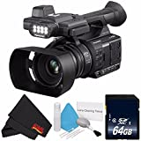 Panasonic AG-AC30 Full HD Camcorder with Touch Panel LCD Viewscreen AG-AC30PJ + 64GB SDXC Class 10 Memory Card + MicroFiber Cloth + Deluxe Cleaning Kit Bundle