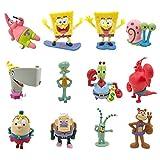 JAMOR SpongeBob 12Pcs,Patrick Star,Squidward Tentacles,Eugene H. Krabs Wait