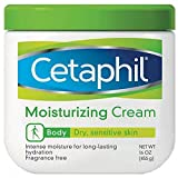 Moisturizer for Dry Skin Cetaphil Moisturizing Cream for Dry/Sensitive Skin, Fragrance Free 16 oz (Pack of 2)
