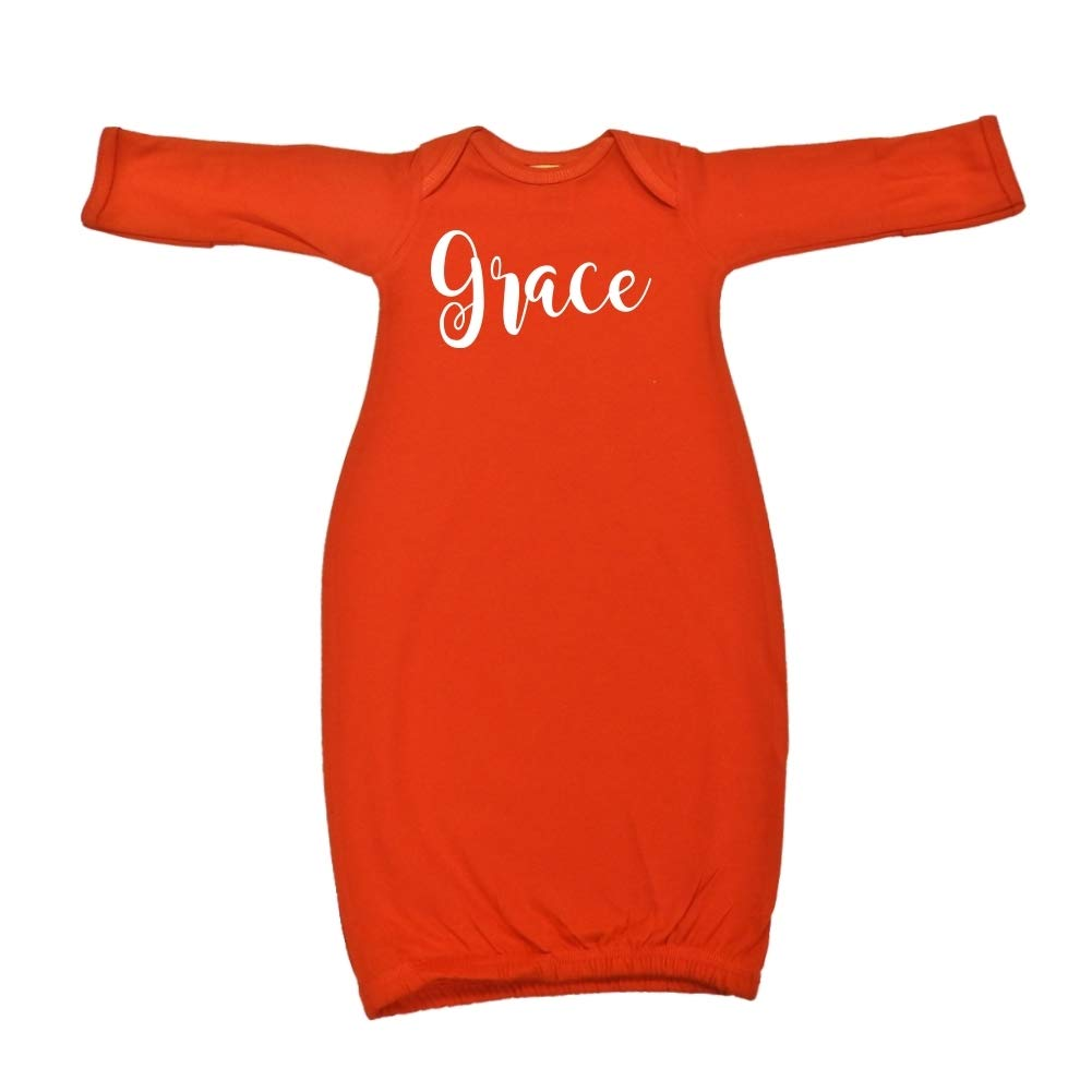 Grace Personalized Name Baby Cotton Sleeper Gown