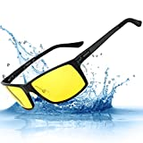 Men's Sports Polarized glasses for Driving at Night Soxick Unbreakable prescription Eye Glasses Yellow Lens 2