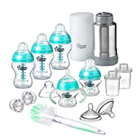 Tommee Tippee Advanced Anti-Colic Newborn Baby Bottle Feeding Gift Set, Heat Sensing...