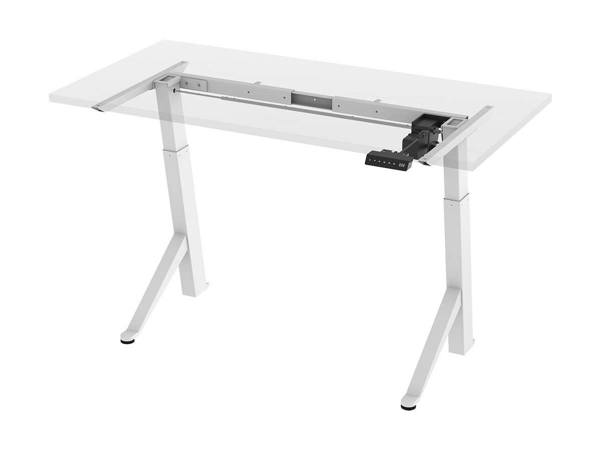 Monoprice Single Motor Angled Sit-Stand Desk Frame with Built-in Retracting Casters - Workstream Collection
