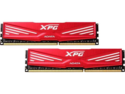 ADATA XPG V1 DDR3 1600MHz (PC3-12800) 8GB (2x4GB) Desktop Memory, Red (AX3U1600W4G11-DR)
