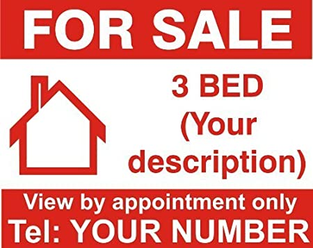 Personalised House For Sale Sign Boards x2
