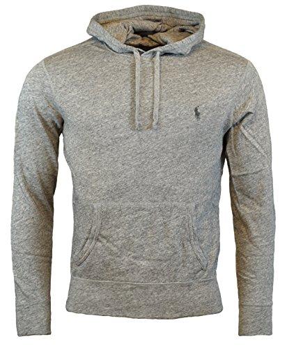 Polo Ralph Lauren Men's Terry Hooded Pullover Sweatshirt - XL - Grey Heather