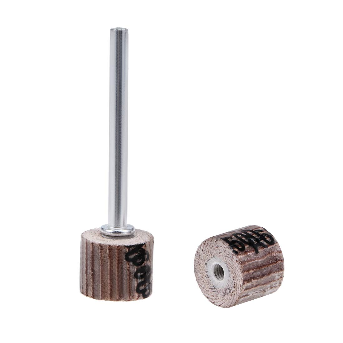 uxcell 2 Pcs 10x10mm Flap Wheel 600 Grits Abrasive Grinding Head with 1/8'' Shank for Rotary Tool