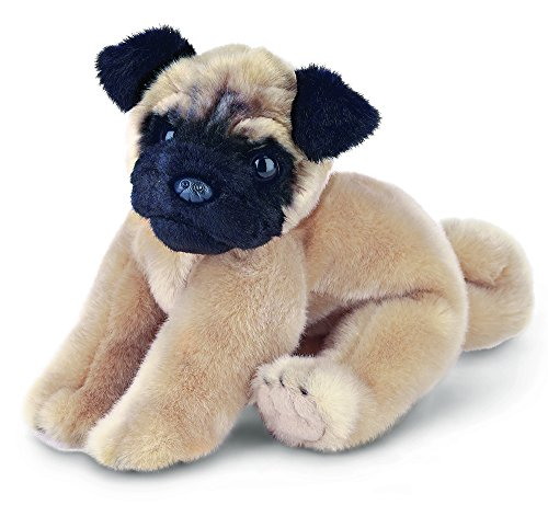 "Dog Plush Pug Stuffed (Bearington Pugsly Pug Plush Stuffed Animal Puppy Dog 13"")"