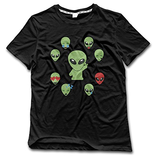 Men's Space Alien Emoji Multiple Expressions Crazy Shirts Printed