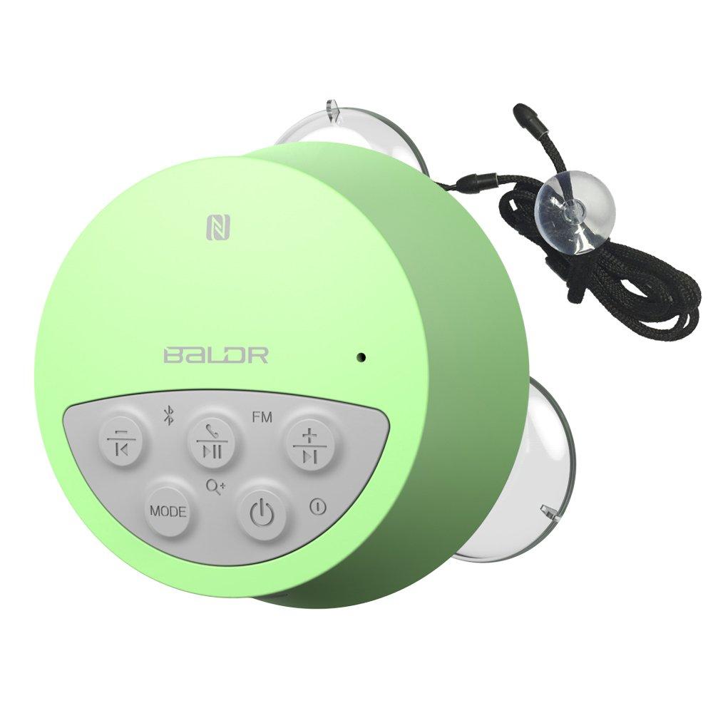 BALDR Waterproof Wireless Shower Radio Green (Bathroom Speaker) by BALDR