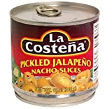 La Costena Pickled Jalapeno Pepper Nacho Slices (Pack of 6) 12 oz Cans