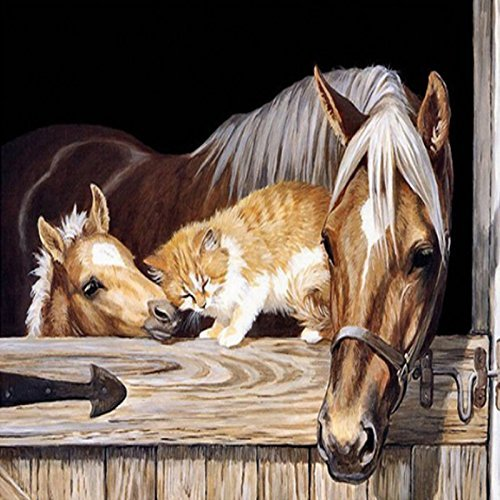 UPC 662565654113, DIY Diamond Paintings Cross Stitch Kit Crystals Crafts Embroidery Sticker Rhinestone Pasted 30x40CM (horse)