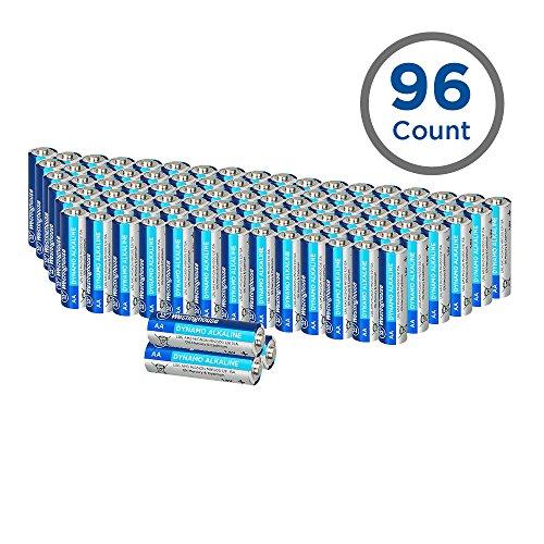 Westinghouse Alkaline AA Batteries, Double A Batteries, Long-Lasting Leak Proof Primary Batteries, Bulk Pack 96 Count (AA, 96 Pack) (Best Long Lasting Aa Batteries)