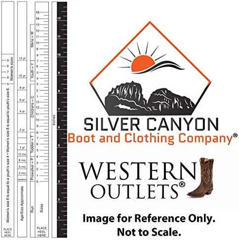 Silver Canyon Boot and Clothing Company Bottes de Cowboy Marron Western Enfants Monterey pour gar/çon
