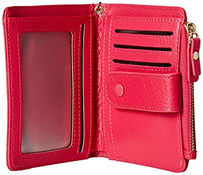 Women's RFID Mini Soft Leather Bifold Wallet With ID Window Card Sleeve Coin Purse
