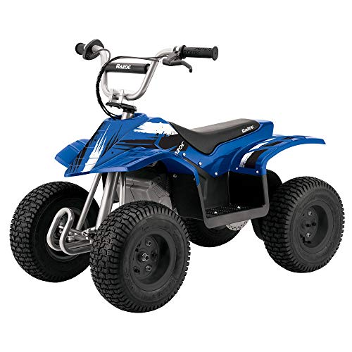 Razor Kids Electric Off Road Mini Dirt Quad Bike 4 Wheeler ATV 24 Volt, Blue (Atv Tires 4 Wheeler)