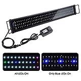 "Yescom 129 Multi-Color LED Aquarium Light Extendable Full Spectrum Lamp for 36""-43inches Fish"
