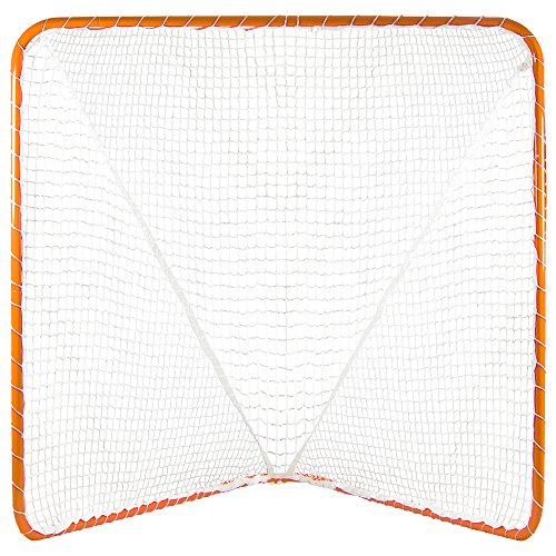 Crown Sporting Goods Lacrosse Goal, Orange, 6 x 6-Feet by Crown Sporting Goods