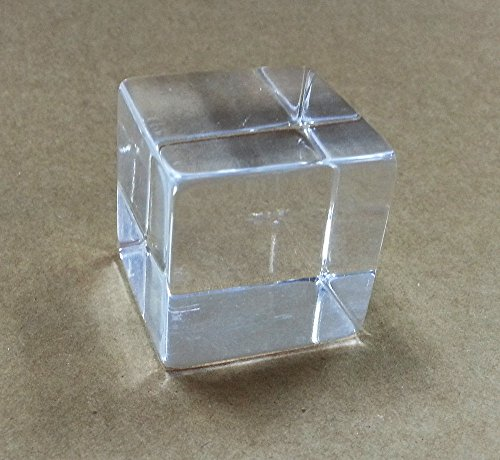 Solid Tumbled Acrylic Cube / Plexiglass Block - Transpare...