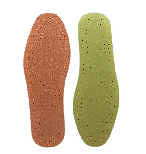 Plain Walker Orthotic Ultra Thin Cushioning Synthetic Leather Tanned Insoles for Women and Men's Flats for Sweaty Feet