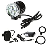 Kingzer Cree T6 LED XM-L 3x Bicycle Bike Light Front Lamp Aluminum Alloy + Plastic